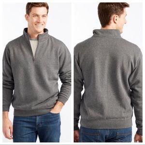 LL bean pullover means sweatshirt legs soft gray